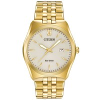 Men's Citizen Eco-Drive Corso Yellow Gold-Tone Watch