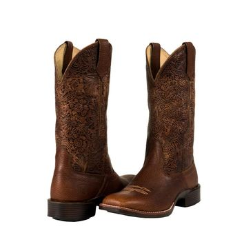 Noble Outfitters Ladies All Around Square Toe Flora Boot - Cognac