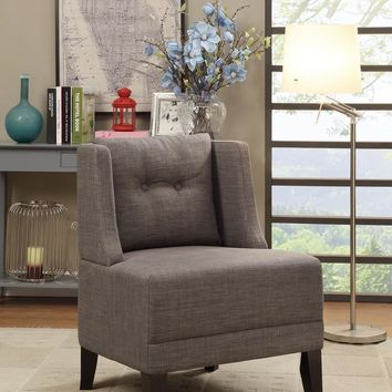 Wood & Dorris Fabric Accent Chair, Brown