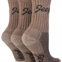 All Things Jeep - Jeep Womens Luxury Boot Socks (3-pack), Taupe