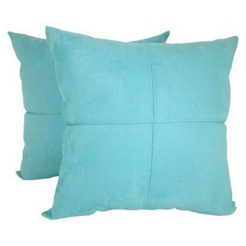 Blue Microsuede Throw Pillows : 4-Panel Faux Suede Decorative Pillow - from Target