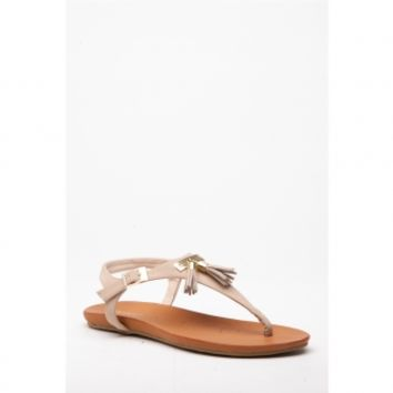 Nude Faux Nubuck Tassel Thong Sandals @ Cicihot Sandals Shoes online store sale:Sandals,Thong Sandals,Women's Sandals,Dress Sandals,Summer Shoes,Spring Shoes,Wooden Sandal,Ladies Sandals,Girls Sandals,Evening Dress Shoes