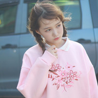 PINK FLOWERS SWEATER