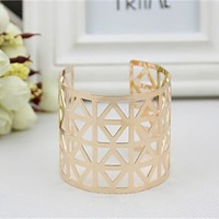 Jewelry New Arrival Shiny Stylish Strong Character Ring Metal Hollow Out Bangle [8171731783]