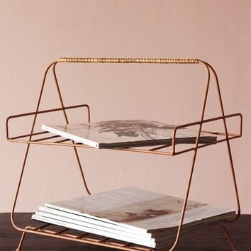 Iron and Bamboo Magazine Rack from Rockett St George