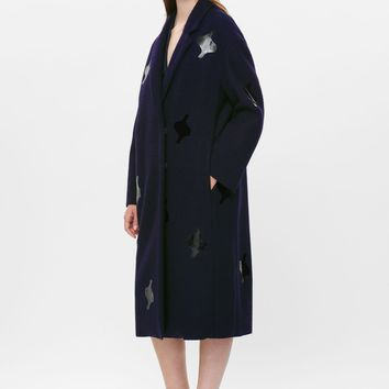 Applique wool coat