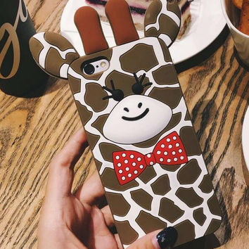 Cute Deer Case Cover for iPhone 7 7 Plus & iPhone 5s se + iPhone 6 6s Plus + Gift Box-61