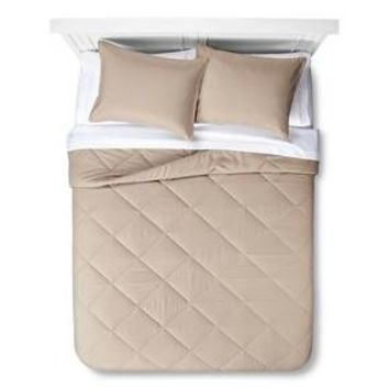 Solid Bed in a Bag with Sheet Set Twin Gray - Room Essentials™ : Target