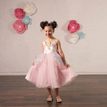 Unicorn Pink Tulle Dress