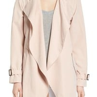 kensie Belted Drapey Trench Coat | Nordstrom