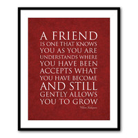 Typography Wall Art - William Shakespeare - Friendship quote - 8 x 10 or larger print - Word Art - Friendship gift
