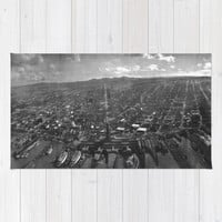 Vintage San Francisco Panoramic Photograph (1902) Area & Throw Rug by BravuraMedia | Society6