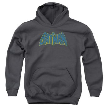 Batman - Sketch Logo Youth Pull Over Hoodie