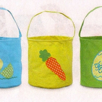 Monogrammed Easter Baskets - Easter Egg or Carrot or Baby Chick Design