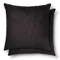 "Suede Throw Pillow 2 Pack (18""x18"") - Room Essentials™"