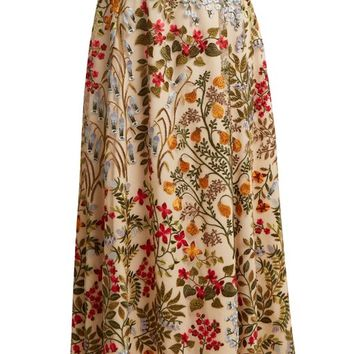 Floral-embroidered macramé skirt | REDValentino | MATCHESFASHION.COM UK