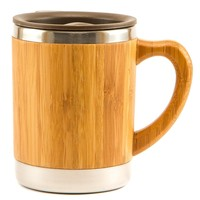 Bamboo and Stainless Steel Coffee Mug/Travel Tumbler