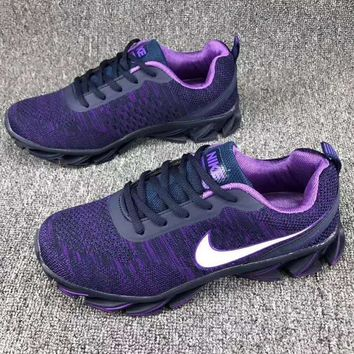Nike Women Trending Casual Sneakers Running Sports Shoes Purple G-CSXY