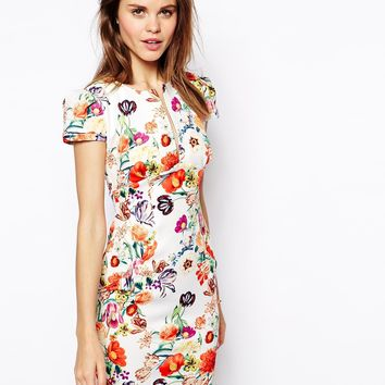 ASOS Sexy Mini Dress in Floral Print