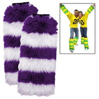 Leg Warmers 2 Pack - Purple/White