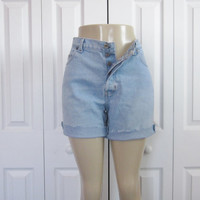 Vintage Gap Button Fly Shorts, Womens 14, Hipster, Cut Off Denim Shorts, Jean Shorts, Gap Cutoffs, 90s Grunge, Light Wash Denim Mid Rise