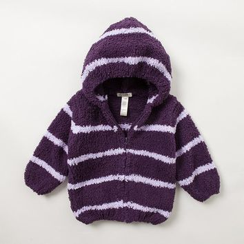 Free shipping,Davebella spring and autumn baby outerwear baby chenille with a hood cardigan stripe small cape 0 - 4 years old