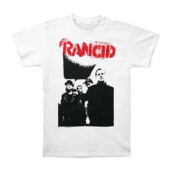 Rancid Men's  Band Photo T-shirt White Rockabilia