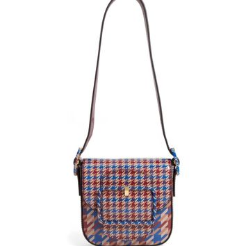 Tory Burch Mini Sawyer Houndstooth Leather Shoulder Bag | Nordstrom