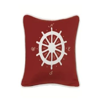 Cowgirl Kim St. Clair Red Compass Pillow