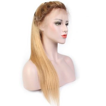 Remy Brazilian Hair Glueless Wigs Lace Front Human Hair Wigs with Baby Hair Pre-Plucked Hairline Ombre Color 13x6 Remy Brazilian Hair Glueless Wigs