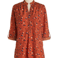 ModCloth Long 3 Love Ballad Tunic in Rust