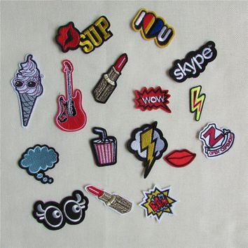 1pcs sell high quality mixture sell patch hot melt adhesive applique embroidery patch DIY clothing accessory patch