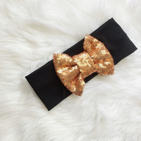 Fall/Halloween Sparkle Bow Turban by BecausePinkDesigns on Etsy