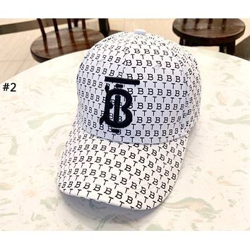 Burberry 2019 new letter full imprint three-dimensional embroidery couple baseball cap cap #2