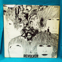 Vintage 60s The Beatles Revolver Parlophone UK Press Stereo Vinyl Record LP