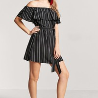 Off-the-Shoulder Stripe Dress