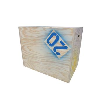 Garage Gym Plyometric Box 30in x 24in x 20in 3 in 1 Natural 3/4in Plywood -- New