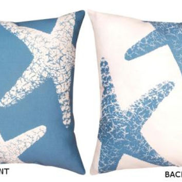 Starfish Reversible Throw Pillow - Uv Treated