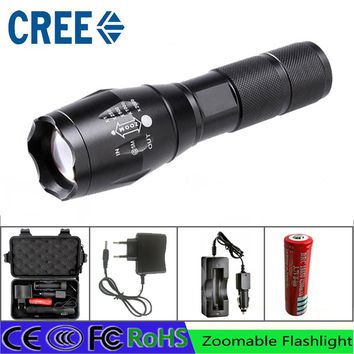 02 Z50 Cree L2 Flashlight Torch Lamp Self Defense LED Flash Light powerful Tactical Emergency led torch battery charger