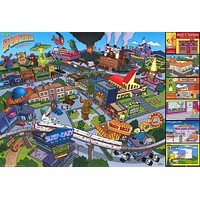 The Simpsons Welcome to Springfield Poster 24x36