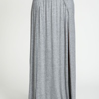 Double Slit Knit Maxi Skirt