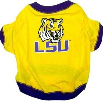 DCCKSX5 LSU Tigers Dog Tee Shirt