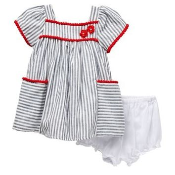 Pastourelle by Pippa and Julie | Striped House Dress (Baby Girls 12-24M) | Nordstrom Rack