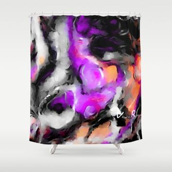 Purposed Shower Curtain by violajohnsonriley