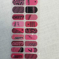 GOT7 Fashion Nail Art Sticker  KPOP Star Gift New Jackson Mark JB JR BamBam