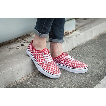 Supreme Vans Checker Logo Classic Sneaker Casual Shoes