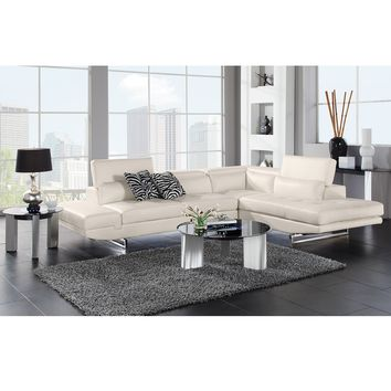 Madrid Leather 2 Pc. Sectional - Value City Furniture