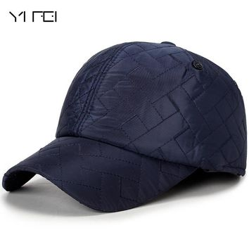 Trendy Winter Jacket Fashion Diamond Peaked Cap Winter Outdoors Windproof Baseball Cap Keep Warm Hats Bone Baseball Mens Winter Hats Ear Flaps AT_92_12