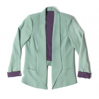 IRIS CUT OUT BLAZER - MINT - WOMEN'S
