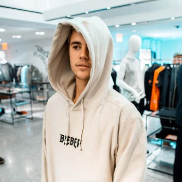 """""""Justin bieber""""Hot letters pullover hoodie sweater Apricot"""